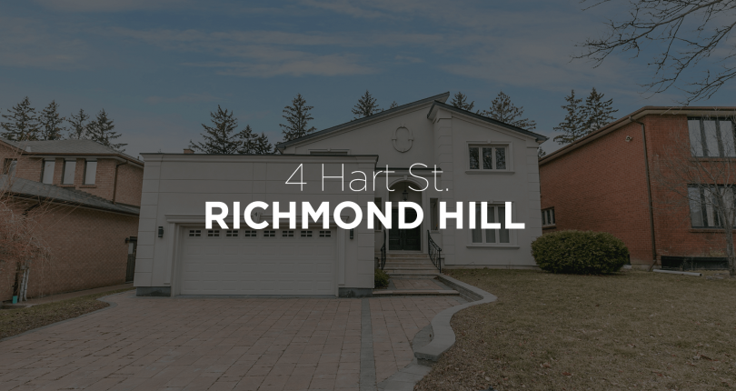 4 Hart St Richmond Hill Ontario L4C7T7