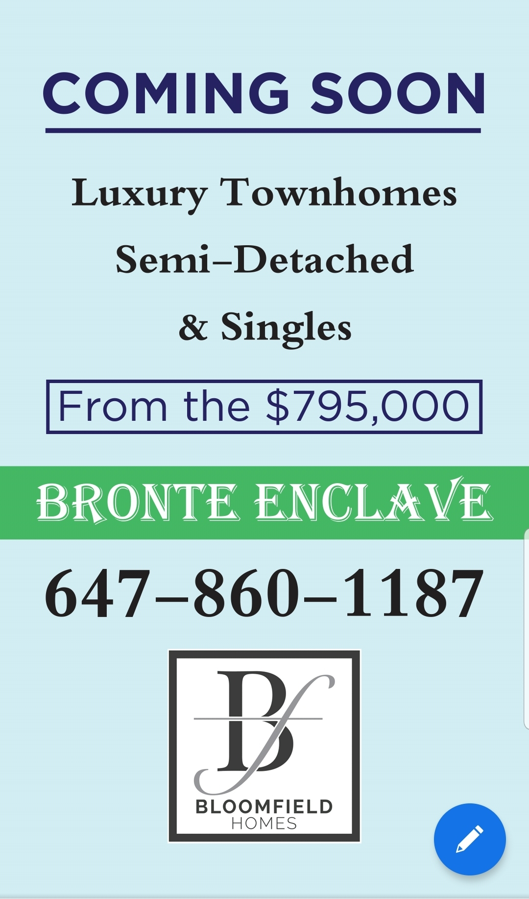 Bronte Enclave Luxury Townhomes